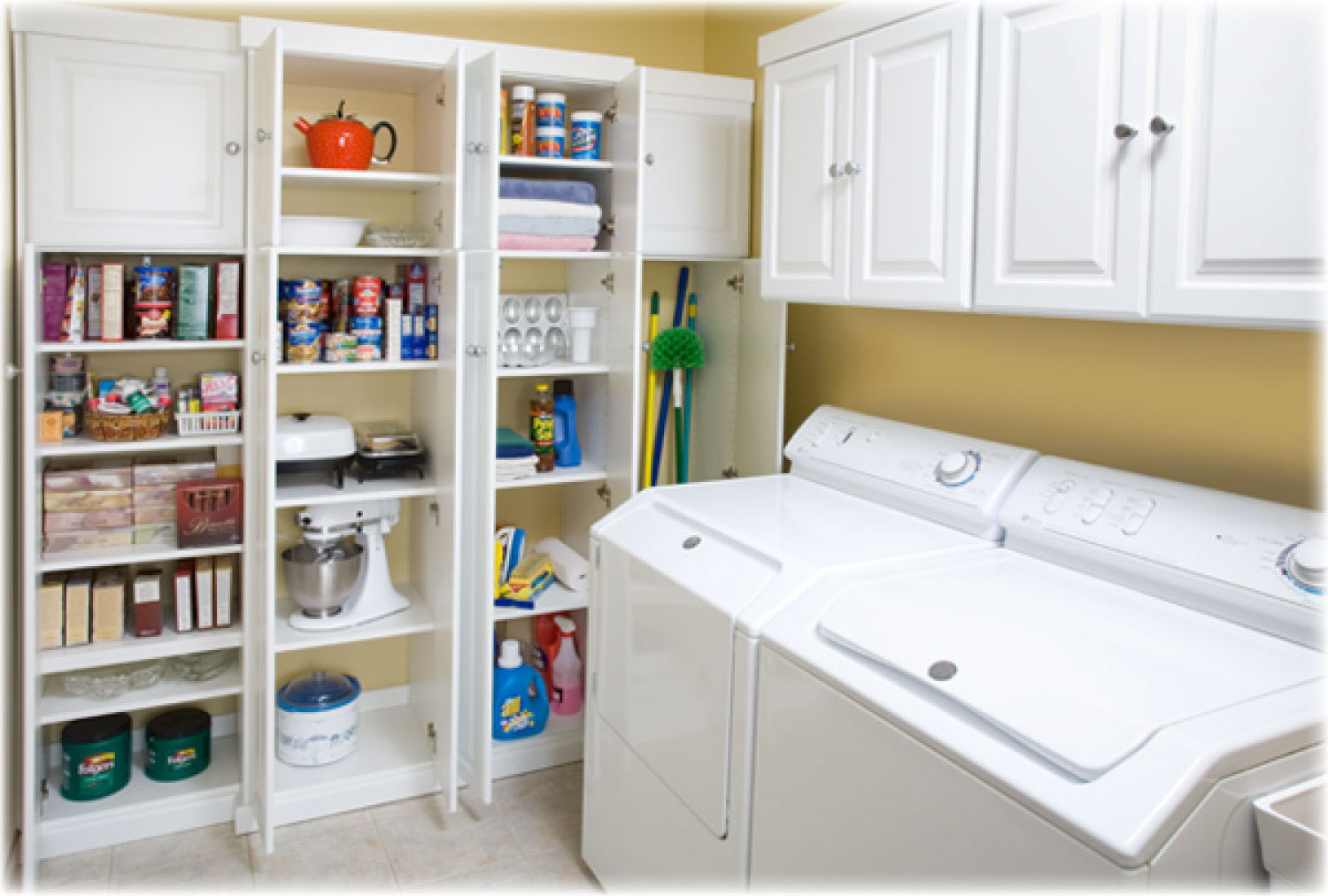 Laundry room storage shelves laundry room storage ideas for Laundry room shelving