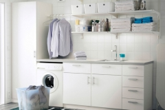 Wall-shelves-and-cabinet-with-door-from-ikea-as-laundry-room-storage-ideas