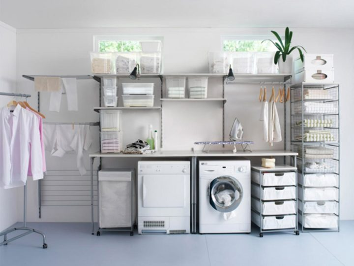 Keep your place clean with laundry room storage ideas
