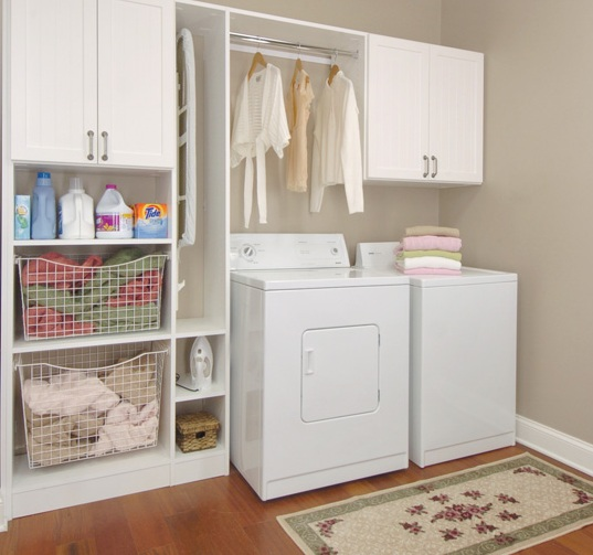 Laundry-room-storage-cabinets-with-shelves