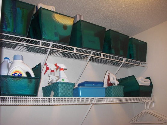 Wall-mounted-laundry-room-storage-shelves